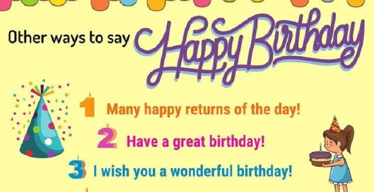 Ways to say Happy birthday in English